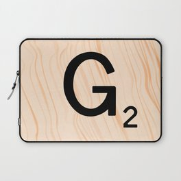 Scrabble Letter G - Scrabble Art and Apparel Laptop Sleeve