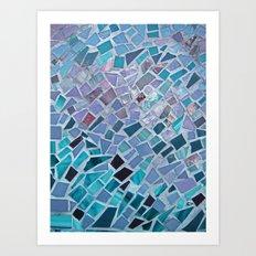 Crashing Waves Mosaic Art Print