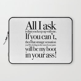 quoting Hollywood 6 Laptop Sleeve