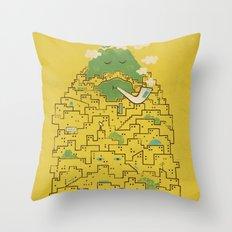 The Bearded City Throw Pillow