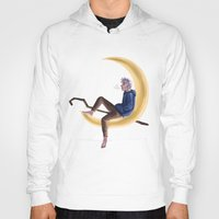 jack frost Hoodies featuring Frost on the Moon by Corelle_Vairel