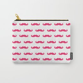 Mustaches For Girls - Pink Mustaches Carry-All Pouch