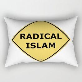 Radical Islam Warning Sign Rectangular Pillow