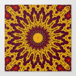 Mandala Fractal in Indian Summer 02 Canvas Print