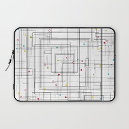 Colorful abstract geometric pattern with color dots Laptop Sleeve