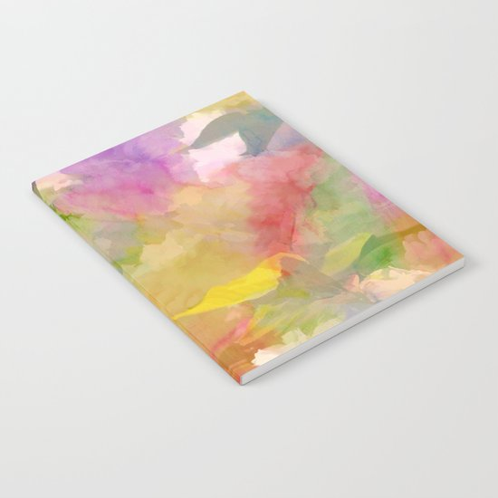 Rainbow Watercolor Floral Abstract Notebook