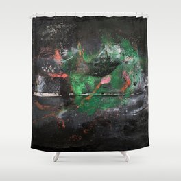 Sasamaki (oil on canvas) Shower Curtain