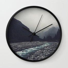 Mountain River Mallero Valmalenco Lombardia Italy Wall Clock