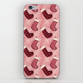 Christmas Socks Pattern iPhone Skin