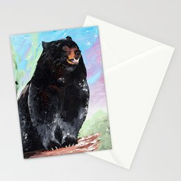 Animal - Courage of a Bear - by LiliFlore Stationery Cards