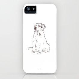 Labrador Golden Retriver dog sitting place gift iPhone Case