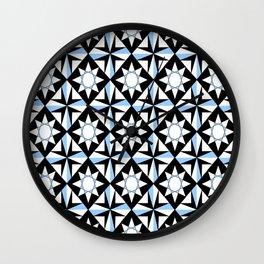 symetric patterns 51 -mandala,geometric,rosace,harmony,star,symmetry Wall Clock
