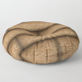Realistic wood texture Floor Pillow