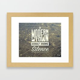 The Modern Town Framed Art Print