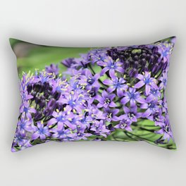 Purple Petals Rectangular Pillow