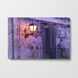 Medieval Facade of Forza d'Agro in Sicily Metal Print