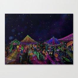 Magical Night Market Canvas Print