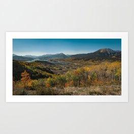 Ptarmigan Peak Fall Views Art Print