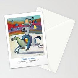 Cow boy Herradura by Diego Manuel. Stationery Cards