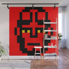 Boy from the Hell minimal pixel art Wall Mural
