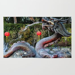 dragon fountain Rug