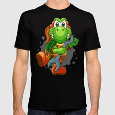 Teenage Mutant Ninja Koopa - Mikey Black MEDIUM Mens Fitted Tee