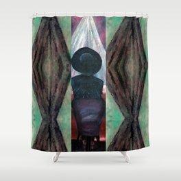 Black Fringe, Big Hat Shower Curtain
