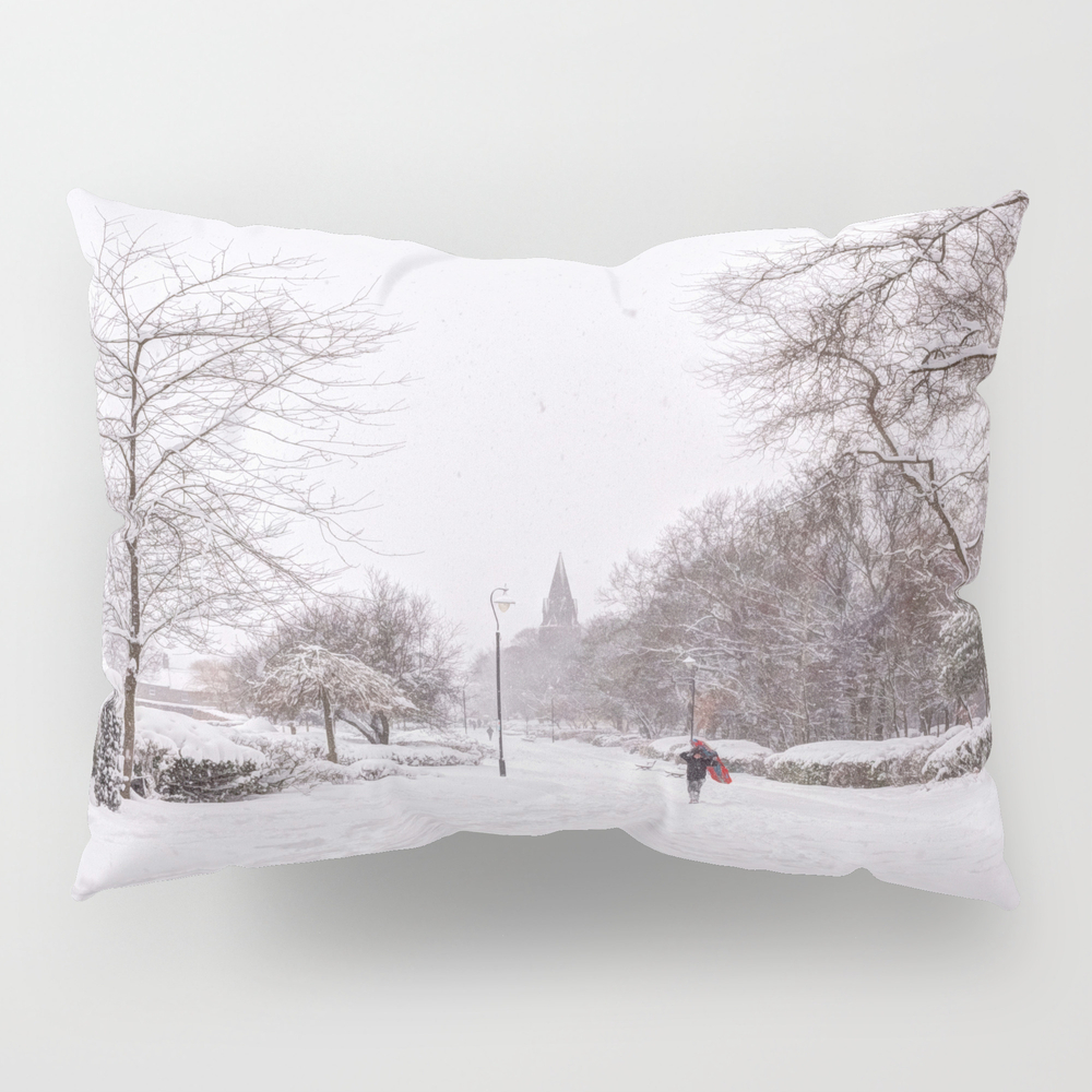 Snow Days In The Park Pillow Sham by Halztalz PSH8872275