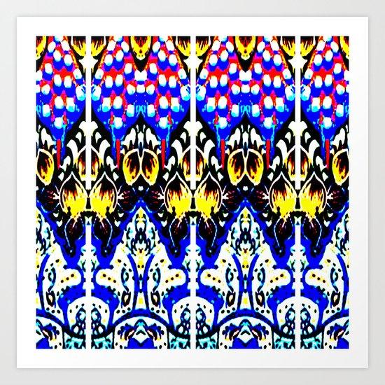 Internal Kaleidoscopic Daze- 21 Art Print