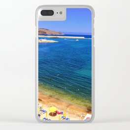 Beaches of Sicily Clear iPhone Case