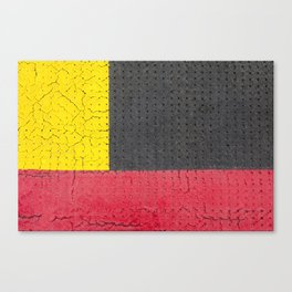Yellow Grey Red Canvas Print