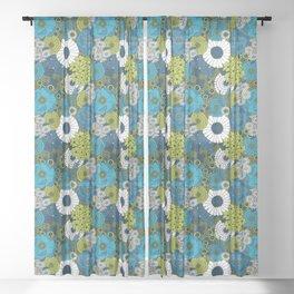 Vintage Florals Chrysanthemum Sheer Curtain