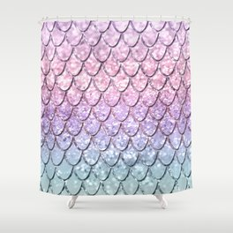 Mermaid Scales on Unicorn Girls Glitter #1 #shiny #pastel #decor #art #society6 Shower Curtain