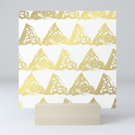 Golden Triangles Mini Art Print