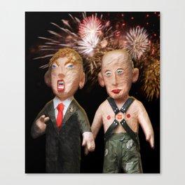 Donald & Vladimir. We Did It! One Year Anniversary. 11.8.2017 Canvas Print