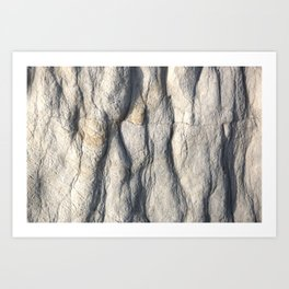 Rock Face Art Print