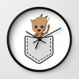 baby grot Wall Clock