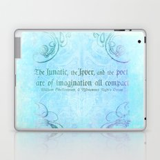 The lunatic, the lover - Midsummer Night Shakespeare Love Quote Laptop & iPad Skin