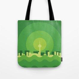 Toronto Minimalism Poster - Spring Green Tote Bag