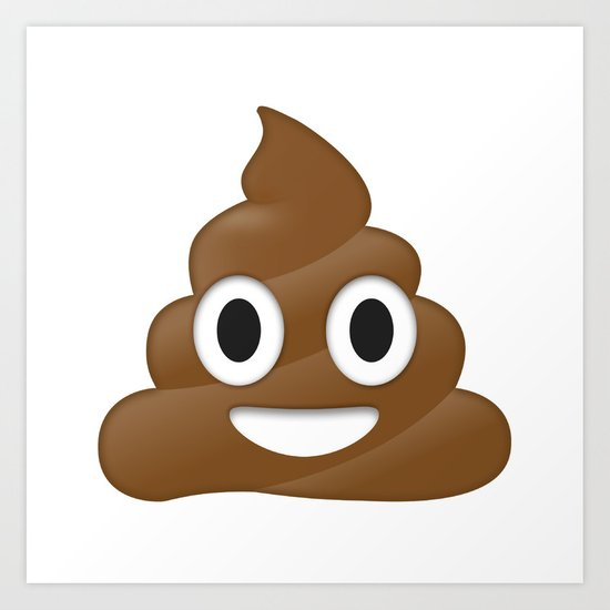 Emoji Poo Art Print by Emojis On Mugs, Tshirts, Phone ...