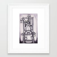 pewdiepie Framed Art Prints featuring Fun with Plushtrap by Alexis Pilato