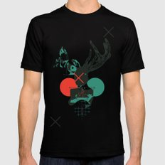 Girl with Horns MEDIUM Black Mens Fitted Tee