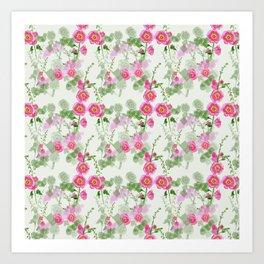 Hollyhock Pattern Art Print