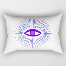 All Seeing Eye in Violet Purple Watercolor Rectangular Pillow