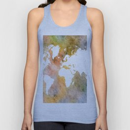 Design 63 World Map Unisex Tank Top