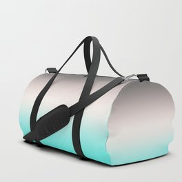 Turquoise gray Ombre Duffle Bag