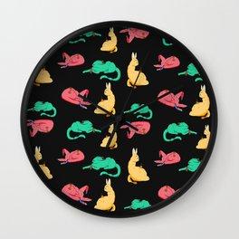 Triple Cat Monster Wall Clock