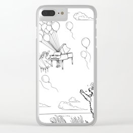 Furiously love floats away Clear iPhone Case