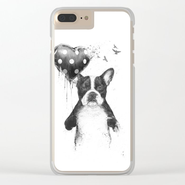 My heart goes boom Clear iPhone Case