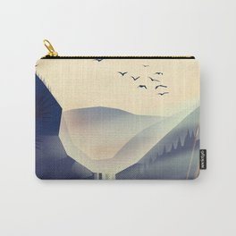 Lake district, Cumbira Travel poster. Carry-All Pouch